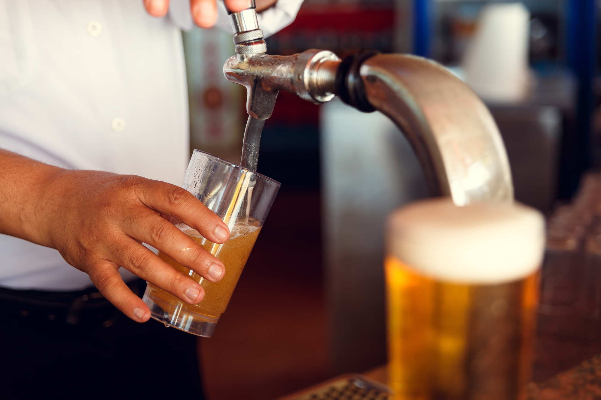 festklar med en bartender